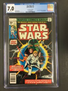 Star Wars #1 CGC 7.0 F/VF marvel comics 1977 roy thomas PRICE VARIANT 35 cents