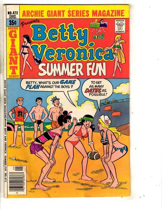 Lot Of 6 Archie Comics Betty & Veronica 472 206 208 462 460