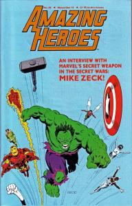 AMAZING HEROES 59 F-VF MIKE ZECK SECRET WARS CVR/INTERV