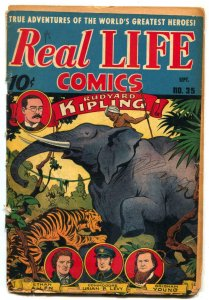 Real Life Comics #35 1946- Rudyard Kipling- Brigham Young- Schomburg P/F