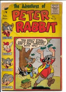 Peter Rabbit #31 1956-Avon-funny animals-Space Mouse-FR