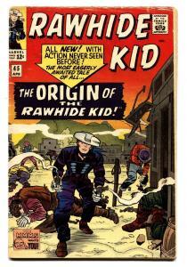 Rawhide Kid #45 comic book 1965- Origin issue- Marvel Western VG