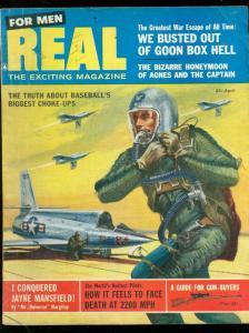 REAL-PULP-APR 1957-JAYNE MANSFIELD-SCHAARE-E R KINSTLER FN