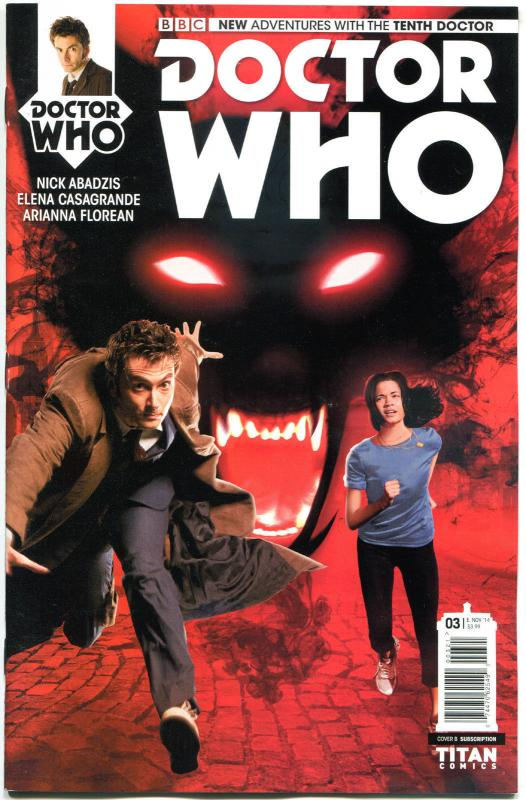 DOCTOR WHO #3 B, NM, 10th, Tardis, 2014, Titan, 1st, more DW in store, Sci-fi