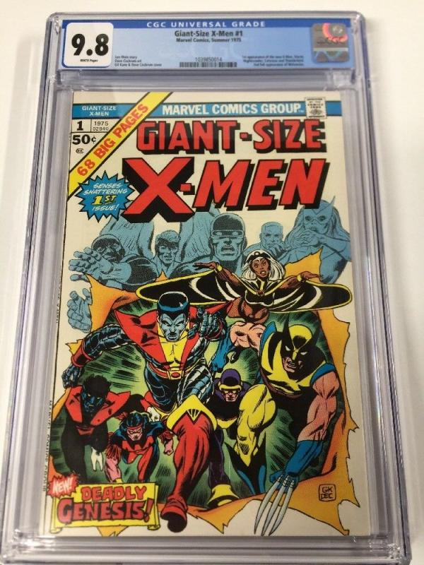 Giant-size X-men 1 Cgc 9.8 White Pages Perfect Centering Gem Copy!