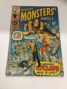 Where Monsters Dwell 1 Vg Very Good 4.0 Marvel