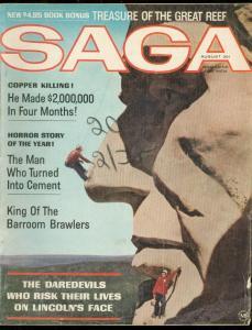 SAGA AUG 1964-BARROOM BRAWLERS-MOUNT RUSHMORE-HITLER VG