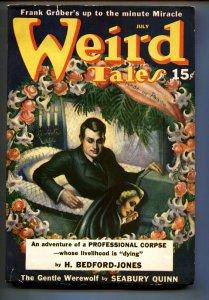 Weird Tales July 1940- Margaret Brundage horror cover-Pulp Magazine