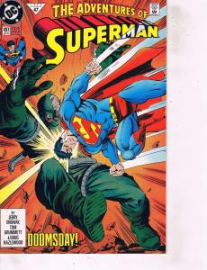 Lot Of 2 DC Comic Books Adventures of Superman #497 and Action Comics #670  LH6