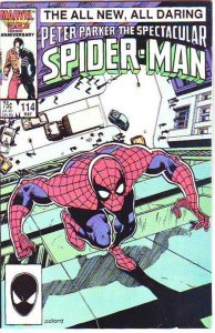 Spider-Man, Peter Parker Spectacular #114 (May-86) NM/NM- High-Grade Spider-Man