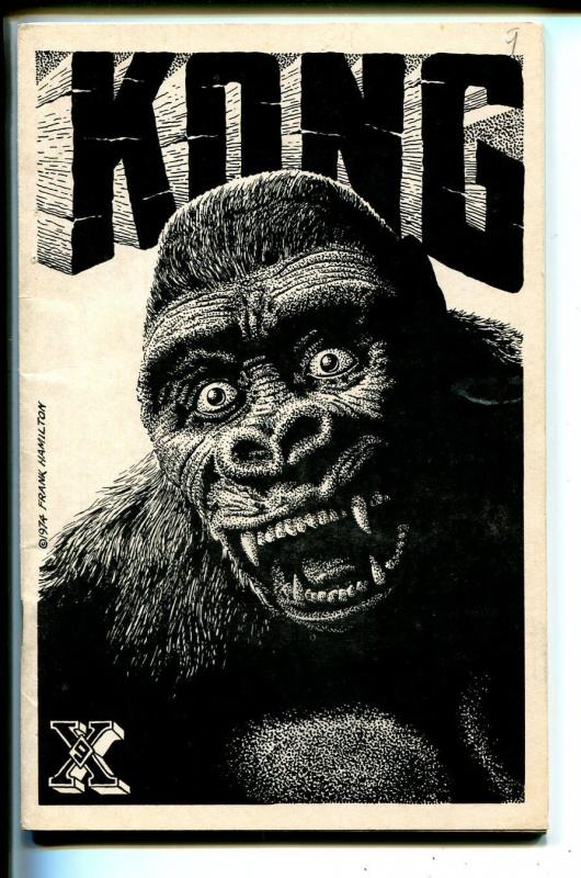 Xenophile #9 1974-Nils Hardin-top pulp ad-info zine-pulps for sale-King Kong-FN-