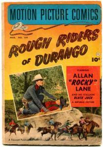 Motion Picture Comics #109 1952- Rough Riders of Durango. VG