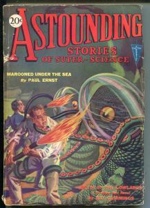 ASTOUNDING STORIES 09/1930-CLAYTON-RARE-SCI-FI PULP-OCTOPUS ALIEN-CUMMINGS-vg-