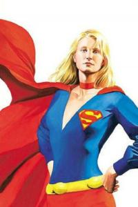 SUPERGIRL Poster, Alex Ross, 22x34, 2001, Unused, JLA, Sealed, more DC in store