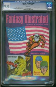 FANTASY ILLUSTRATED #4 CGC 9.0  JEFF JONES - BILL DUBAY 0790835003