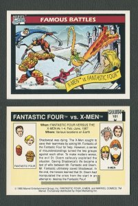 1990 Marvel Comics Card  #101 (X-Men vs Fantastic Four / NM-MT