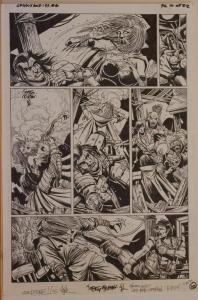 TIMOTHY TRUMAN original art, GRIM JACK #6, pg 10, 11x17, Killer Instinct, IDW