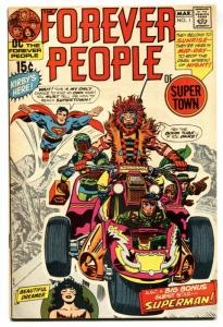 Forever People #1 comic book bronze-age DC -- First full Darkseid appearance! VF