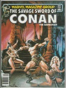 Savage Sword of Conan # 68 Strict NM- Artist Ernie Chan