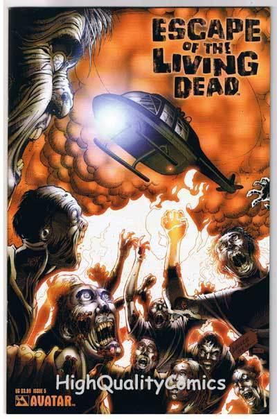 ESCAPE of the LIVING DEAD #5, NM, Avatar, Zombies, 2005, more Horror in store