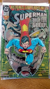 Superman #82 (DC, 1993) Collector's Edition Chromium Cover Condition: NM+