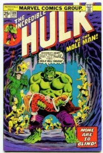 ncredible Hulk #189 (VF-) NONE ARE SO BLIND! Mole Man App Marvel ID11G