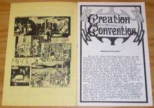 Creation Convention Program 1976 VF- with old flyers - vintage guide