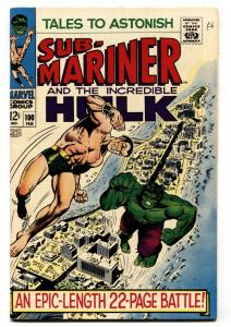 TALES TO ASTONISH #100 HULK-SUB-MARINER-VF-