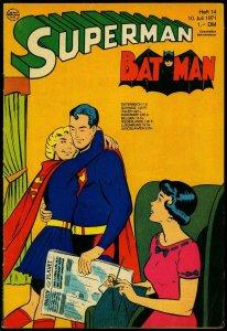 Superman Batman #14 1971- German comic edition- Supergirl- Lois Lane VG