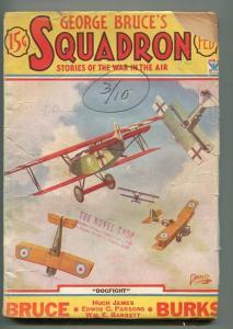 GEORGE BRUCE'S SQUADRON 02/1934-WWI-TINSLEY-BI-PLANES-DOG FIGHT-good