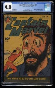 Captain Marvel Adventures #52 CGC VG 4.0 Off White to White