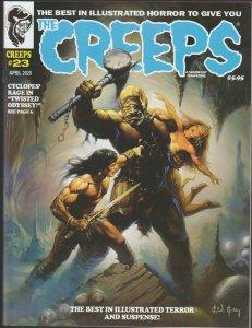 THE CREEPS #23 - FIRST PRINTING - COMIC HORROR MAGAZINE