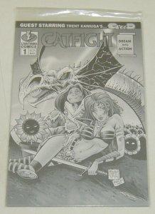 Catfight: Dream Into Action #1 VF/NM platinum variant w/COA (775 of 2,100)