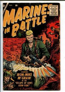 MARINES IN BATTLE #13 1956-ATLAS-IRON-MIKE MCGRAW-DON HECK-JOE MANEELY-vg