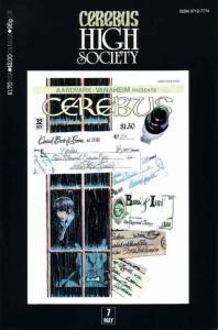 Cerebus High Society #7 FN; Aardvark-Vanaheim | save on shipping - details insid