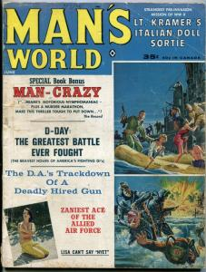 Man's World Magazine June 1963-CHEESECAKE-EXECUTION D-DAY   G-