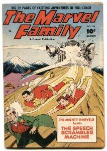 The Marvel Family #50 1950- Golden Age- Speech Scrambler Machine FN-