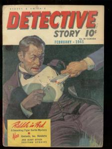 DETECTIVE STORY PULP-FEB 1941-CONTRACTS, INC-BAUMHOFER? G/VG