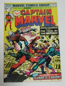 Captain Marvel #38 Lunatic Legion Appearance 1975 Marvel Comics VF/NM