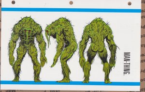 Official Handbook of the Marvel Universe Sheet- Man-Thing