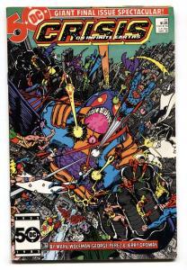 CRISIS ON INFINITE EARTH #12 comic book 1986- Wolfman- Perez- vf