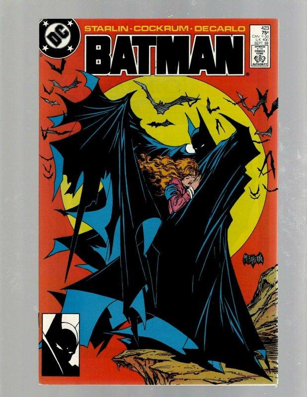 Batman # 423 NM DC Comic Book Todd McFarlane Cover Art Gotham Joker Robin J450
