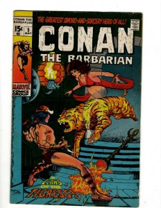 Conan The Barbarian # 5 FN/VF Marvel Comic Book Barry Smith Kull King Sword NP16