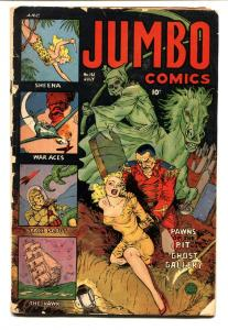 Jumbo #161 1952  First HORROR cover-Bondage cover Fiction House