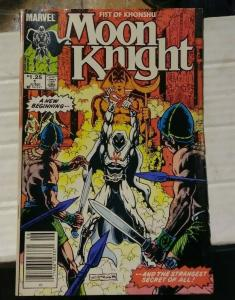 MOON KNIGHT-FIST OF KHONSHU  # 1 1985 MARVEL+ MARC SPECTOR NEW BEGINING