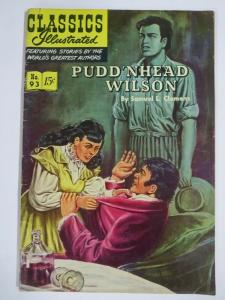 CLASSIC ILLUSTRATED #93 (VG-) PUDD'NHEAD WILSON (1ST Edition, HRO=94) March 1952