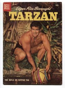 TARZAN #100-1958-DELL-GORDON SCOTT COVER- BURROUGHS  MARSH- MANNING-vg