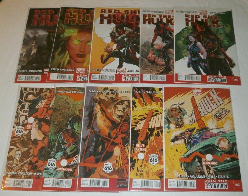 Red She-Hulk vol. 1 #58-67 (set of 10) Parker/Pagulayan