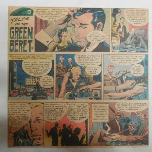 Tales Of The Green Berets by Joe Kubert from 7/16/1967 Size: 11 x 15 inches TR