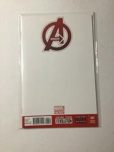 Avengers 1 Nm Near Mint Blank Variant Marvel Comics